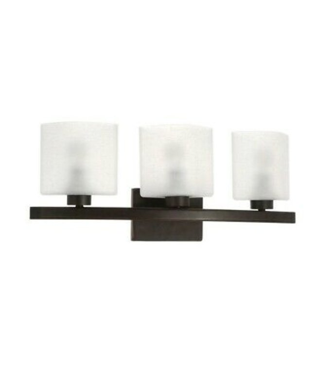 Hampton Bay Hampton Bay Ettrick Oil-Rubbed Bronze Sconce with Hand Pained Glass Shades