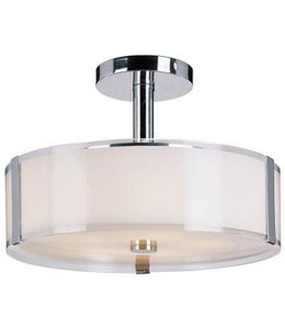 Home Decorations Collection Bourland Polished Chrome Semi-Flush Mount Ceiling Light
