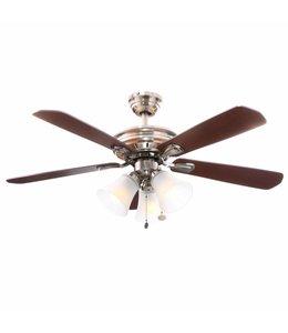 Hampton Bay Hampton Bay Glendale 52 in. Indoor Ceiling Fan with Light Kit Brushed Nickel