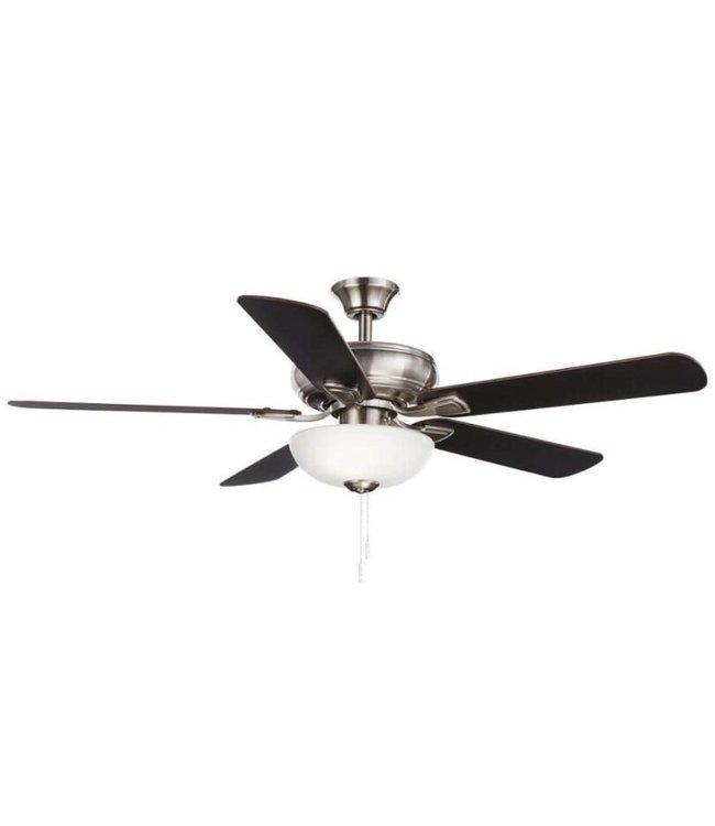 Hampton Bay Hampton Bay Rothley II 52 in. Ceiling Fan with Light Kit Brushed Nickel