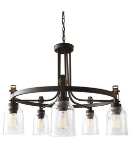 Home Decorations Collection Knollwood 5-Light Chandelier Blackened Bronze