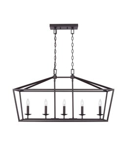 Home Decorations Collection Weyburn  Caged Island Chandelier Bronze