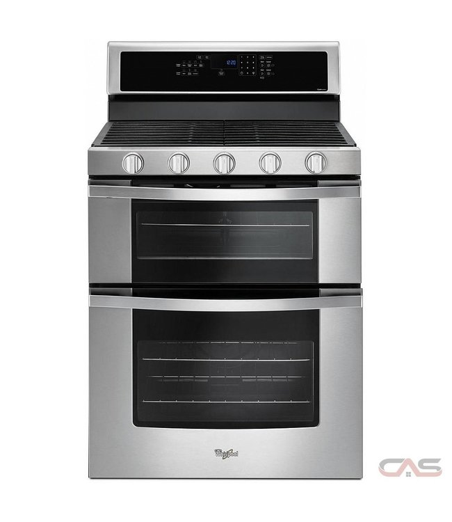 WHIRLPOOL Whirlpool 6.0 cu. ft. Double Oven Gas Range Stainless Steel