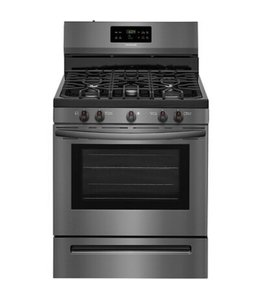 FRIGIDAIRE Frigidaire 30 in. 5.0 cu. ft. Gas Range with Self-Cleaning Oven Black Stainless Steel