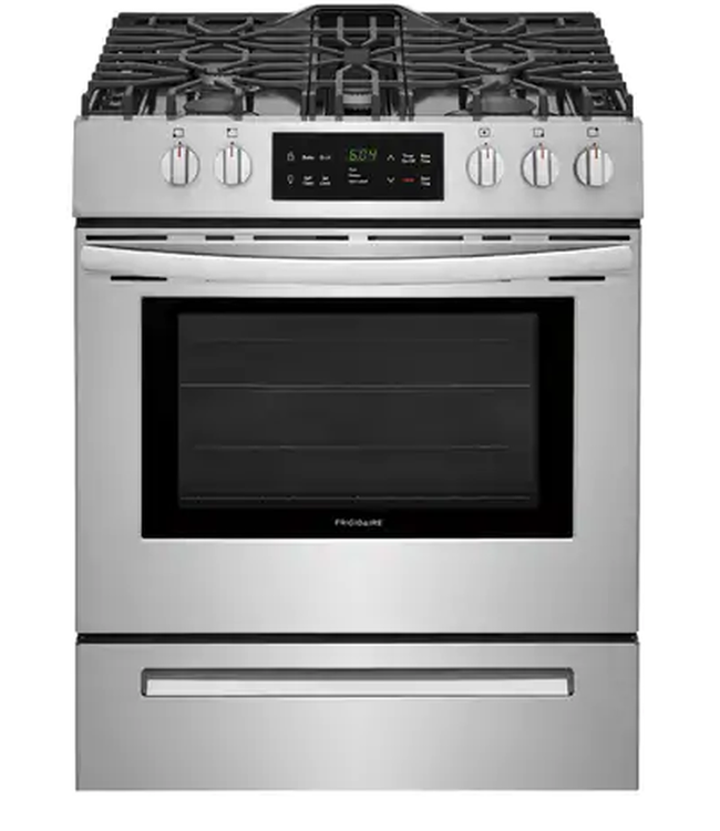 FRIGIDAIRE Frigidaire 30 in. 5.0 cu. ft. Single Oven Gas Range with Self-Cleaning Oven Stainless Steel
