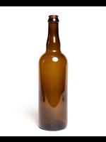 Racking/Bottling Bottles, Beer - 750mL Belgian Crown/Cork Finish - Amber (12/case)