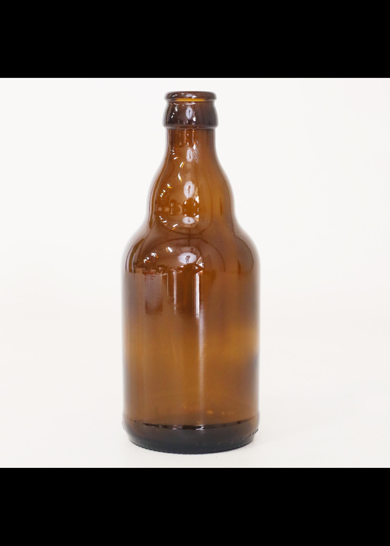 Racking/Bottling Bottles, Beer - 330 ml Steini - Amber (24/case)