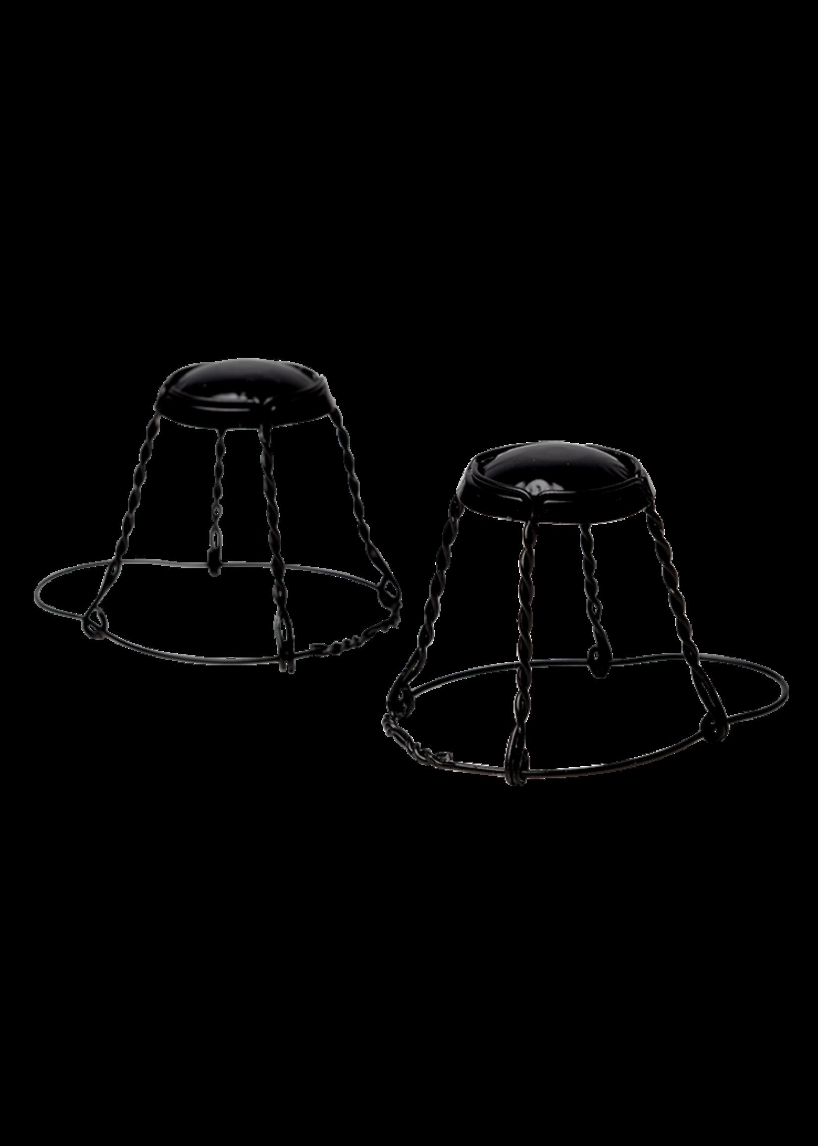 Racking/Bottling Wires, Hooded - Belgian Black Cap & Wire (24/bag)