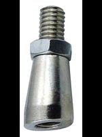 Kegging Chrome Plated Bonnet Angler for Draft Faucet Tap Handle - #E06