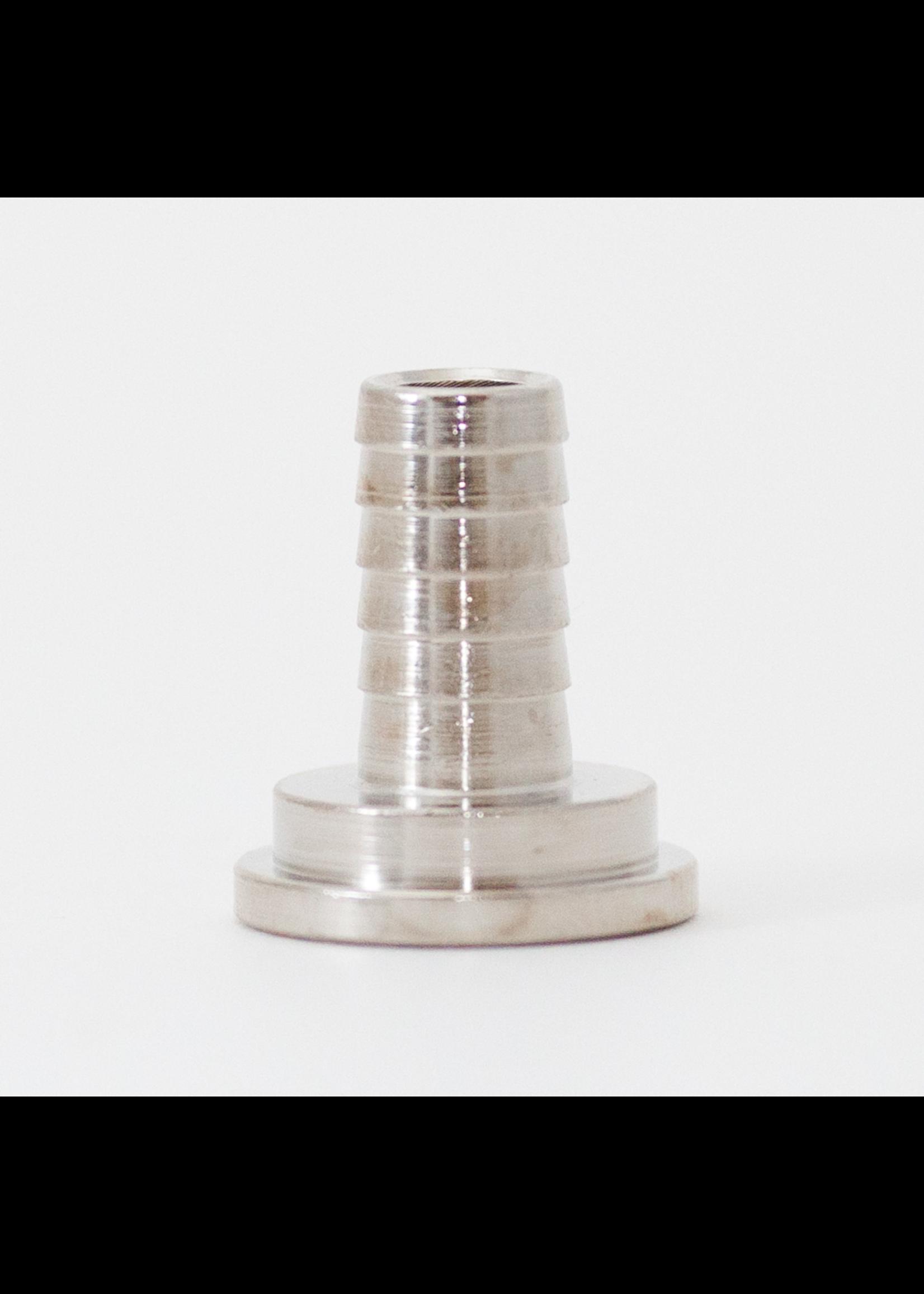 "Kegging Tailpiece - 1/4"" Barb - Chromed Brass - #F06"