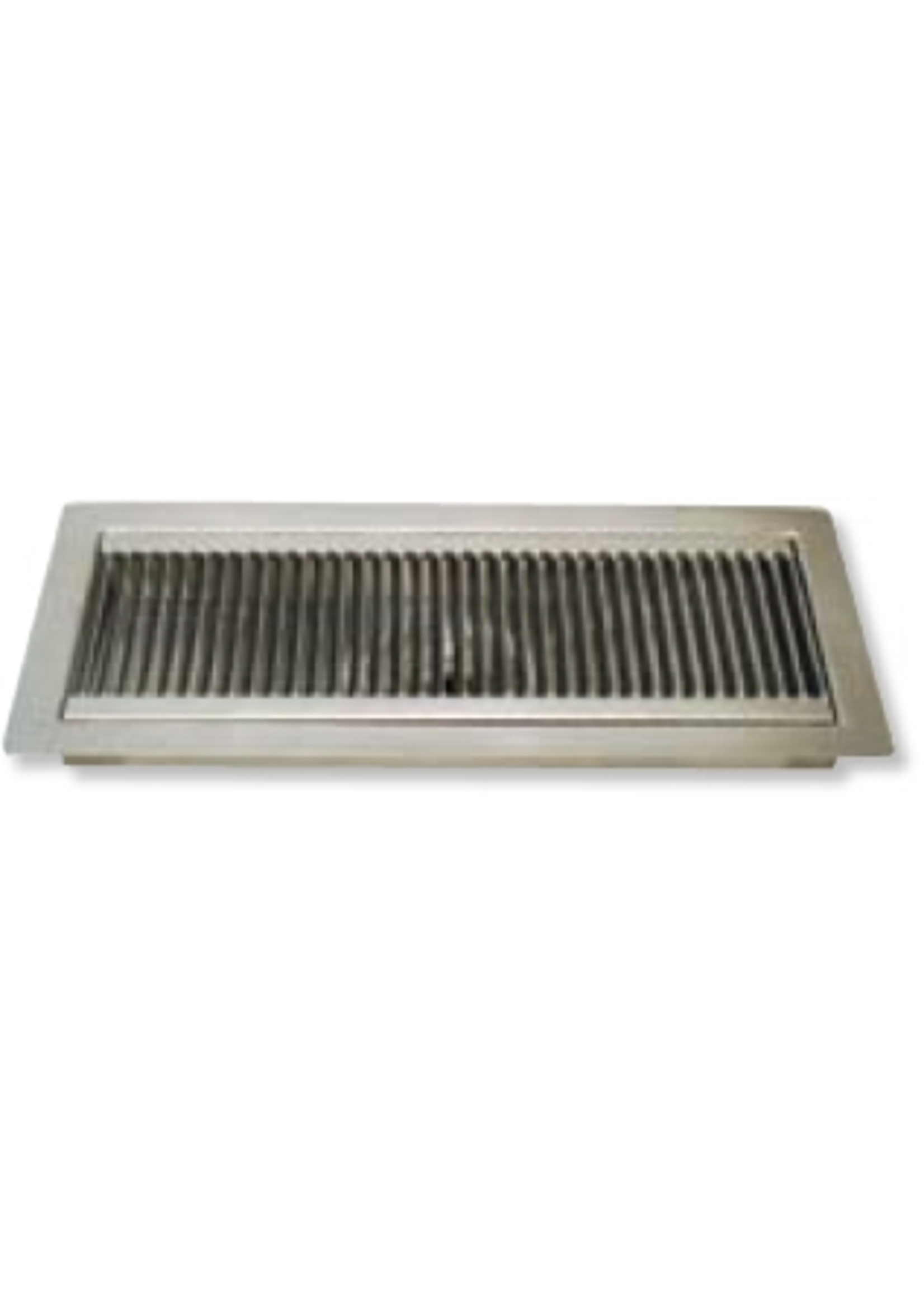 """Kegging Flush Mount Stainless Steel Drip Tray - 12"""" x 5.25"""" x .75"""" Flanged"""