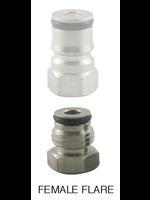 Kegging Corny Adapter - Stainless Steel 1/4 FFL x 19/32-18M #B29.5