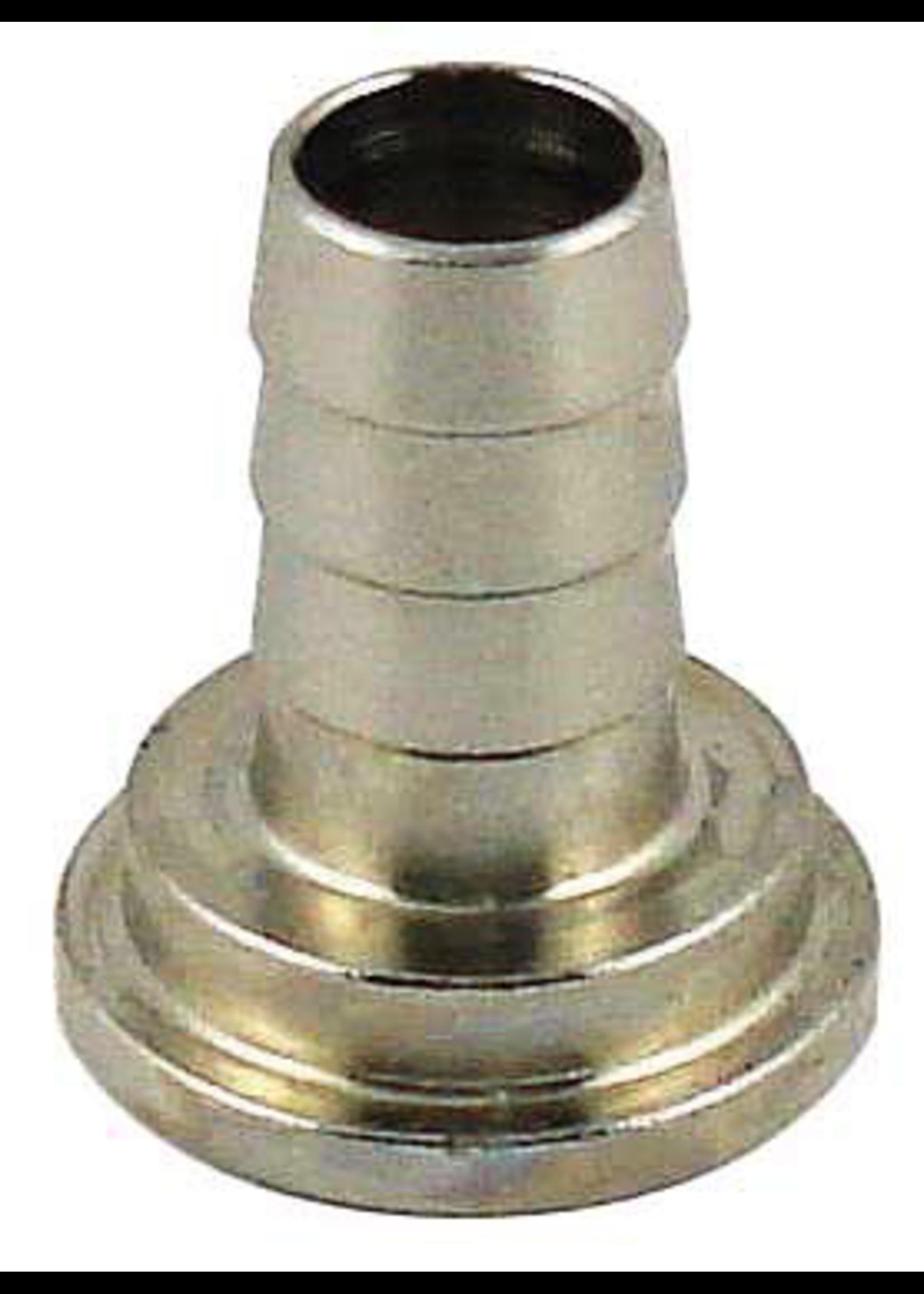 "Kegging Tailpiece - 3/8"" Barb - Chromed Brass - #F08"