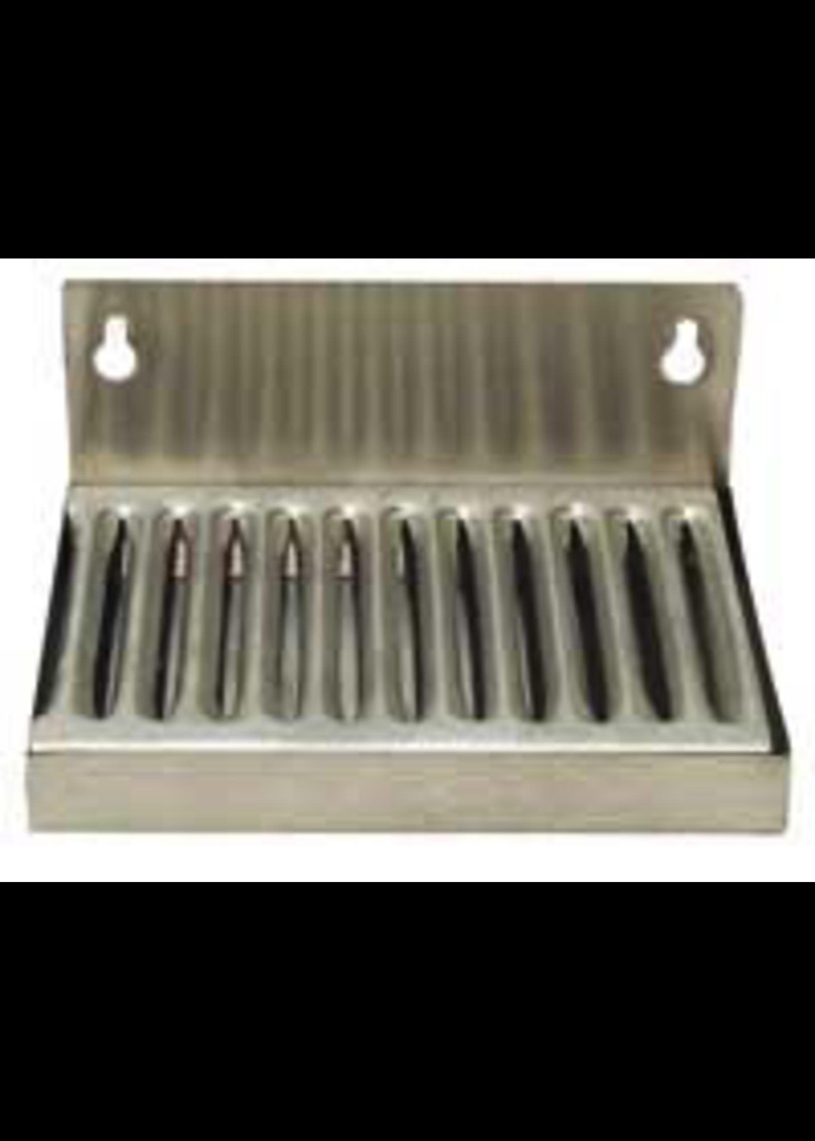 """Kegging Wall Mount Stainless Steel Drip Tray - 6"""" x 4.5"""" (2"""" Backsplash)"""