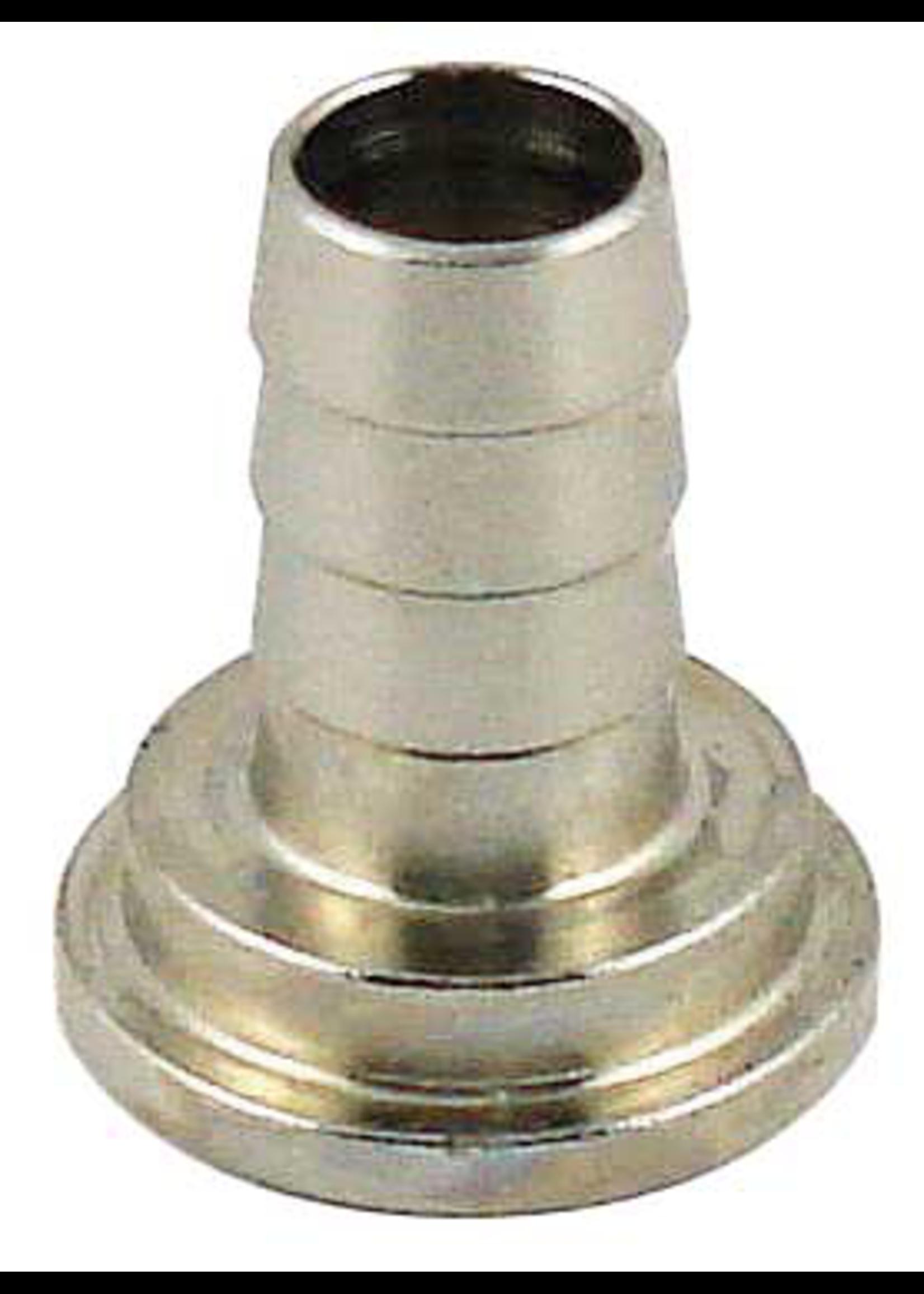"Kegging Tailpiece - 1/2"" Barb - Chromed Brass - #F13"