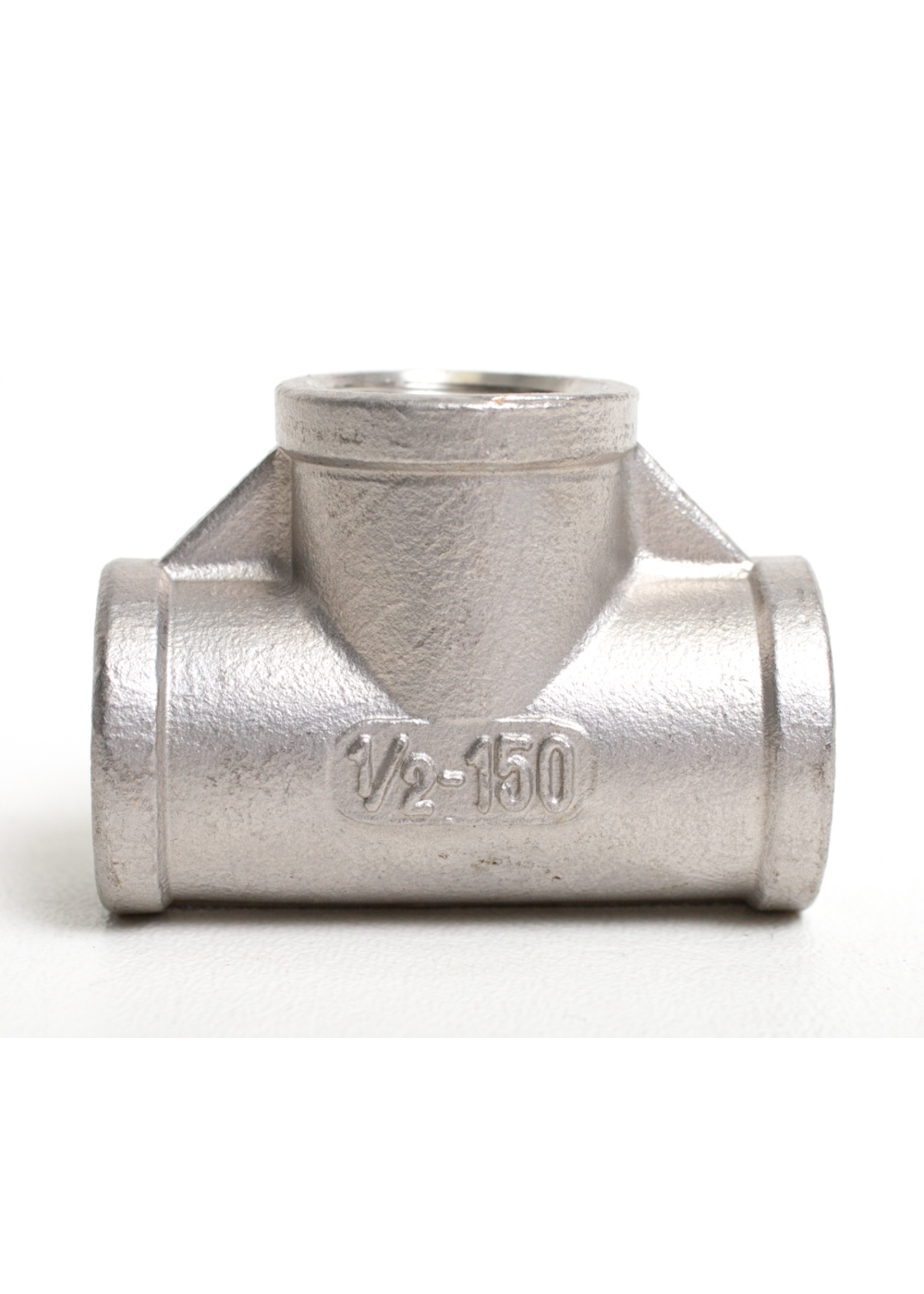 """Fittings Stainless Steel Tee - 1/2"""" FPT (All Sides) - #D10"""