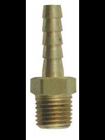 "Fittings Hose Stem - 1/4 Barb x 1/4"" MPT - Brass - #C21"