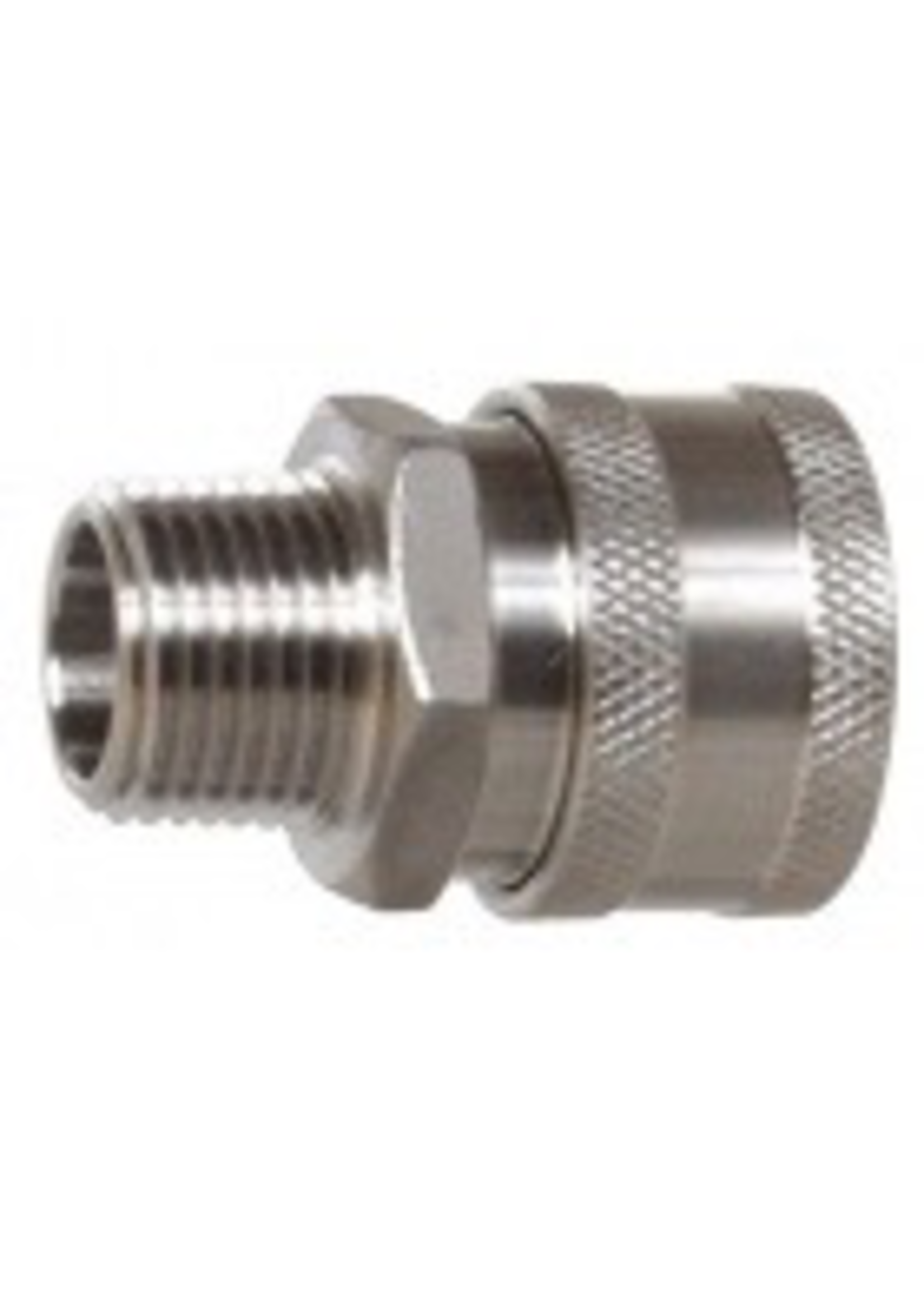 """Kegging Quick Disconnect - Female x 1/2"""" MPT - Stainless Steel - #D15"""
