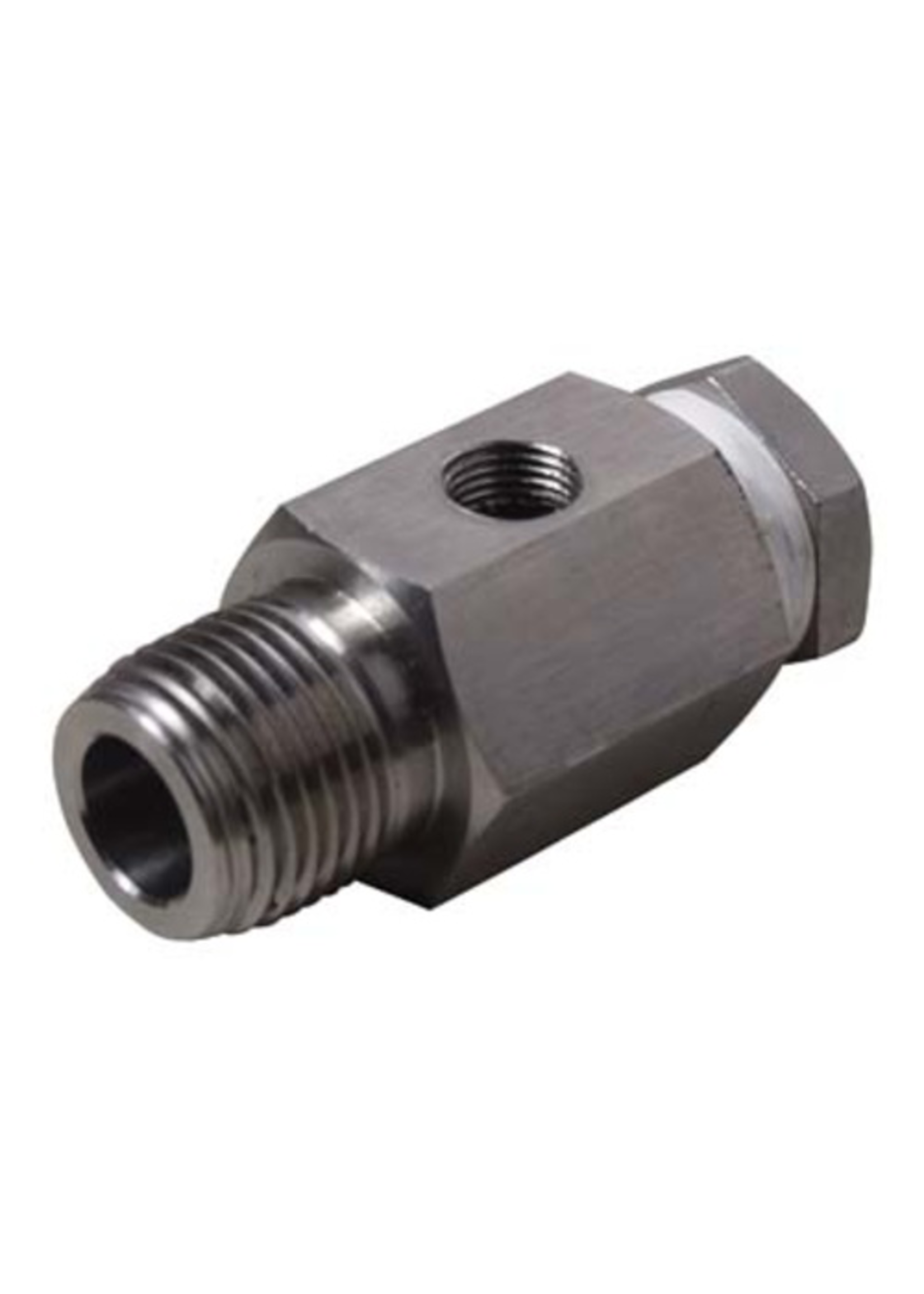 Brewing Stainless Sight Gauge Adapter w/ Plug