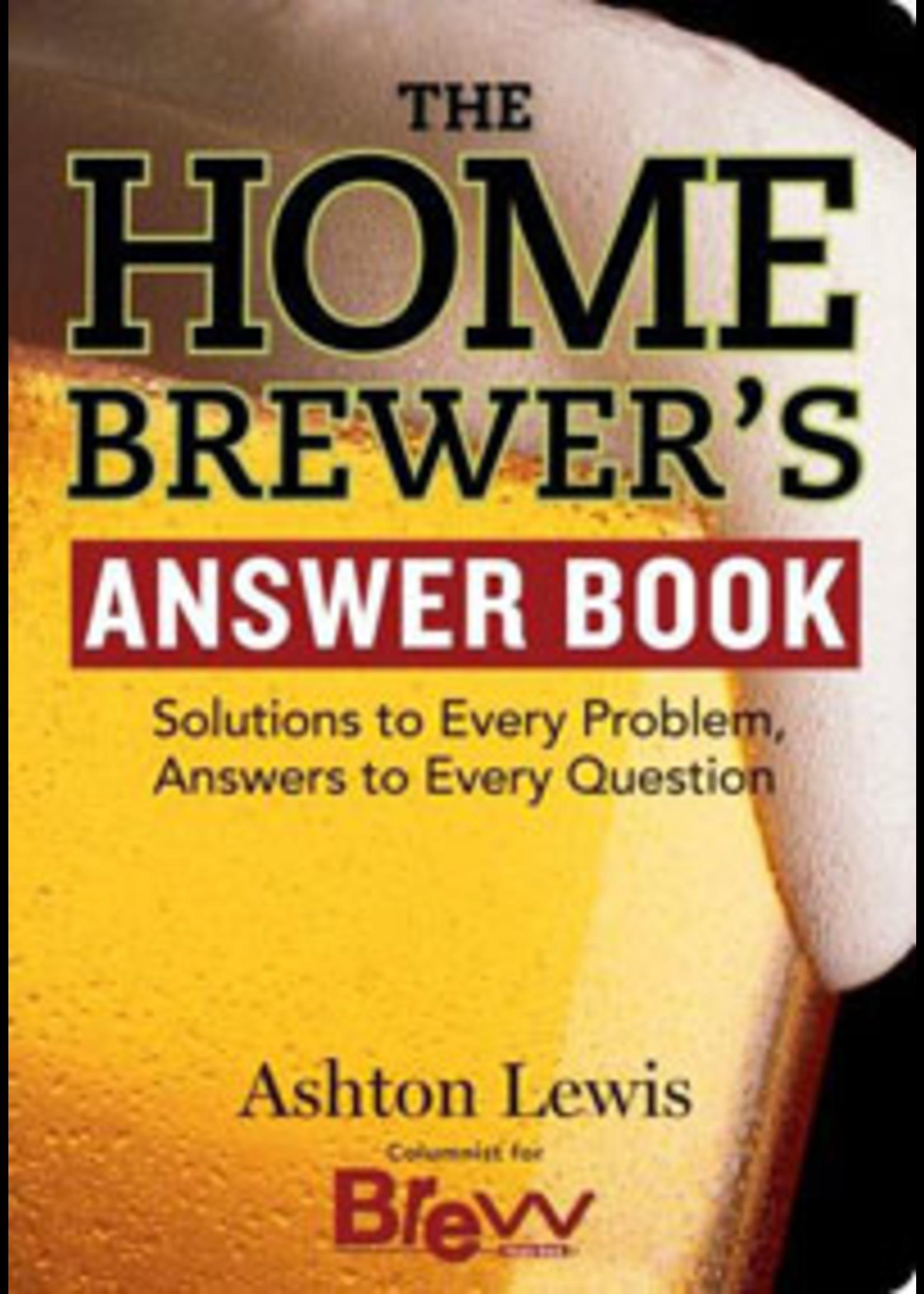 Books Homebrewers Answer Book (Ashton Lewis)