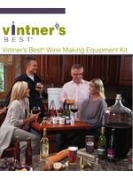 Brewing Vintners Best Wine Equipment Kit with Double Lever Corker and Better Bottle - NLG