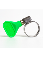 """Fittings Easy-Turn Hose Clamp - 3/4"""" (Green) - #A10"""