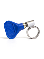 """Fittings Easy-Turn Hose Clamp - 1/2"""" (Blue) - #A02"""