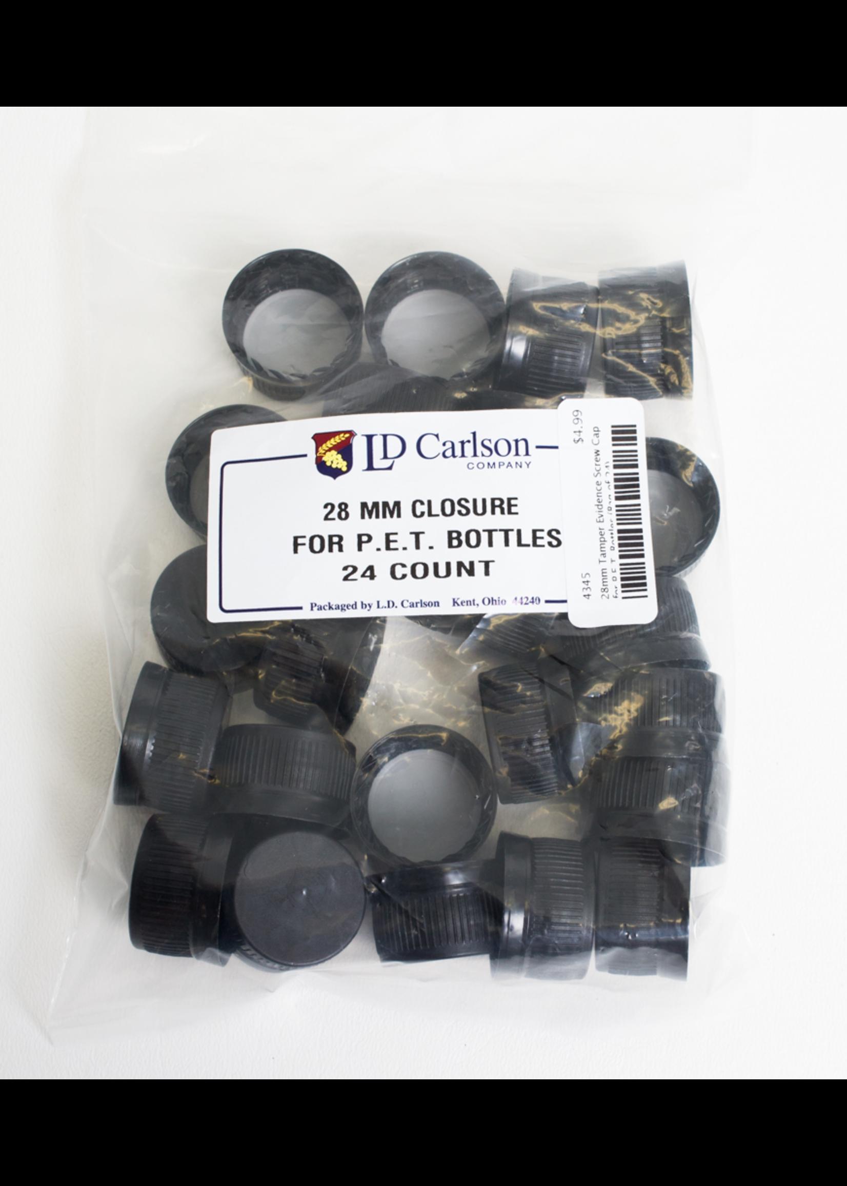 Racking/Bottling Screw Caps - 28 mm Tamper Evident for P.E.T. Bottles (24/bag)