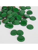 Racking/Bottling Bottle Caps - Green Crown Oxygen Barrier - 1 Gross (Approx 144 Caps)