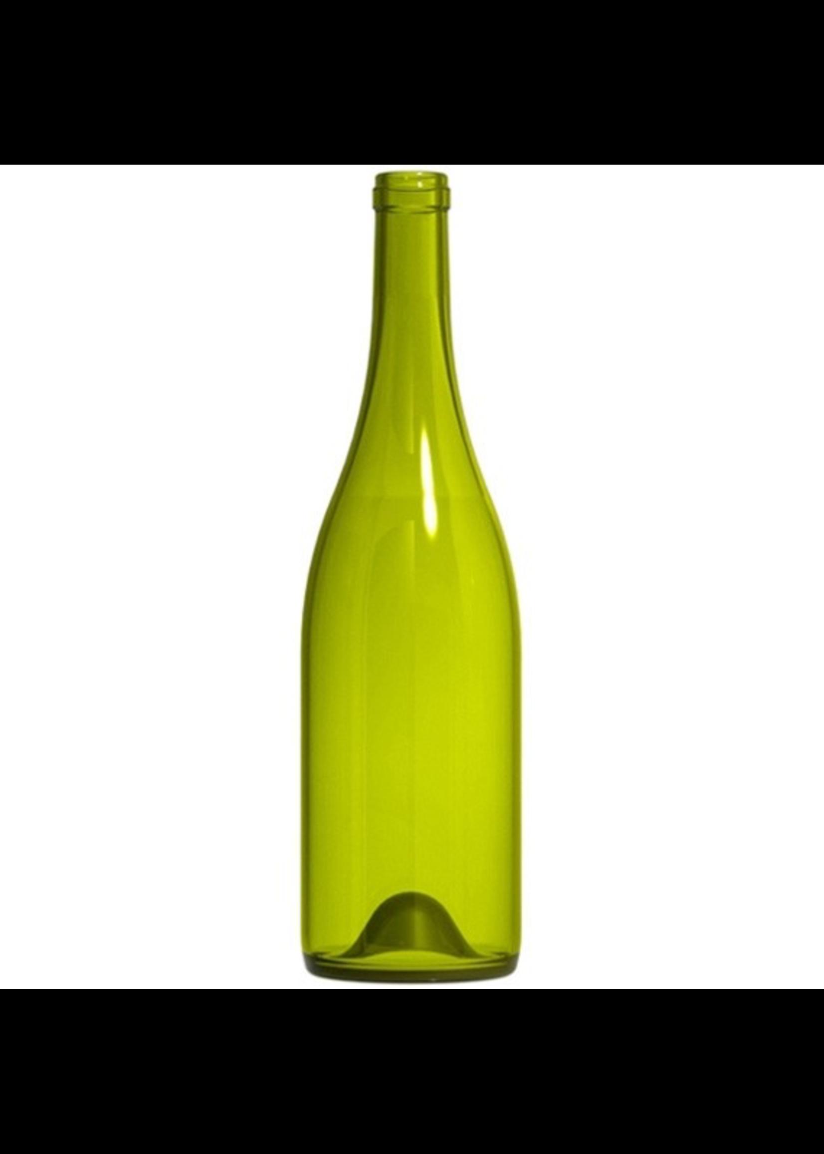Racking/Bottling Bottles, Wine - 750 ml Burgundy Punted - Dead Leaf Green (12/case)