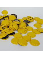 Racking/Bottling Bottle Caps - Yellow Crown Oxygen Barrier - 1 Gross (Approx 144 Caps)