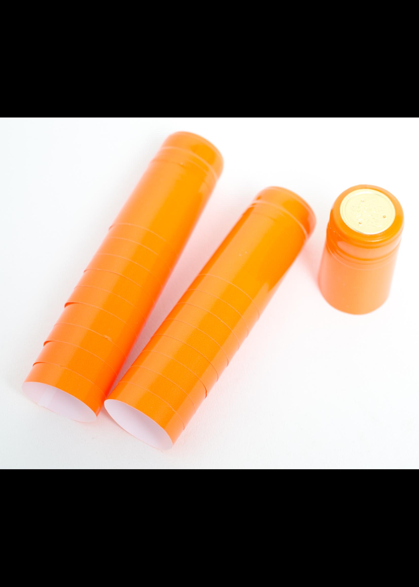Racking/Bottling Shrink Capsules, PVC - Orange (30/bag)