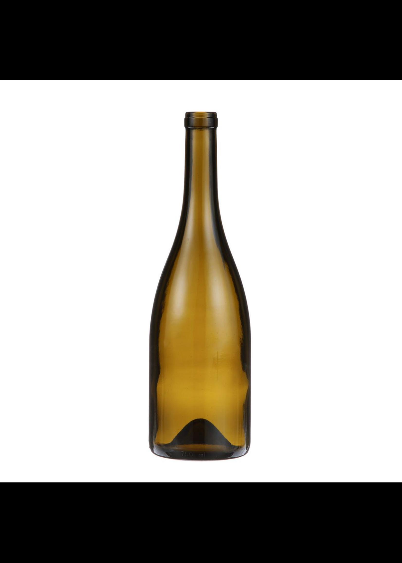 Racking/Bottling Bottles, Wine - 750 ml Burgundy - Antique Green Punted (12/case)