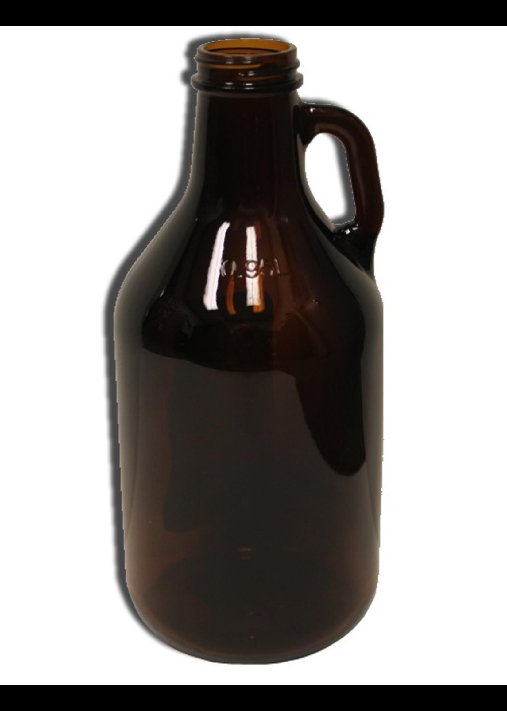 Racking/Bottling Glass Jug - Amber 1/4 Gallon Glass Growler with Handle (1/each)