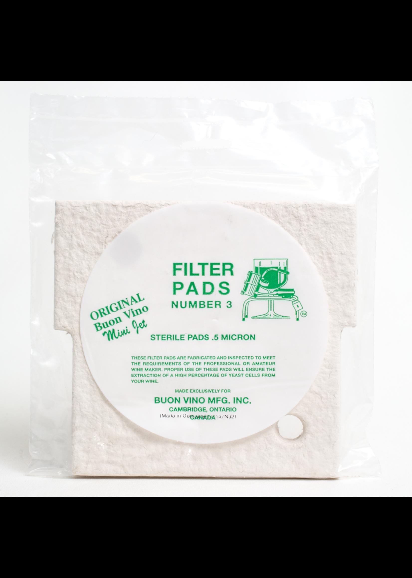 Racking/Bottling Filter Pad - Buon Vino Mini #3 Super Sterile 0.5 Micron (3/bag)