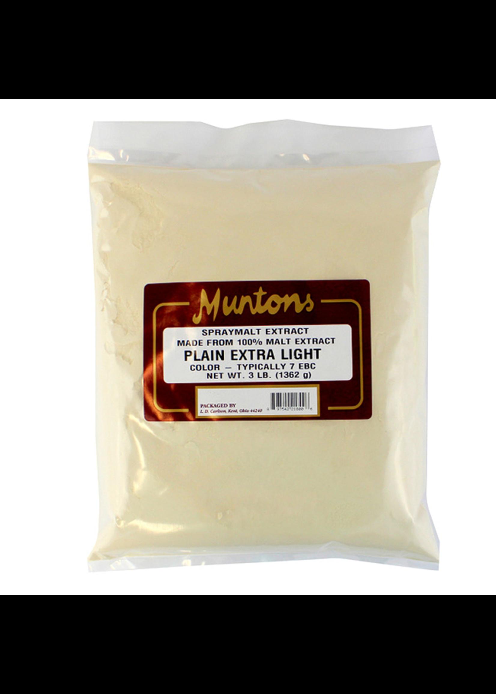 Extracts/Adjuncts Muntons Plain Extra Light Spraymalt Dry Malt Extract (DME) - 3 LB