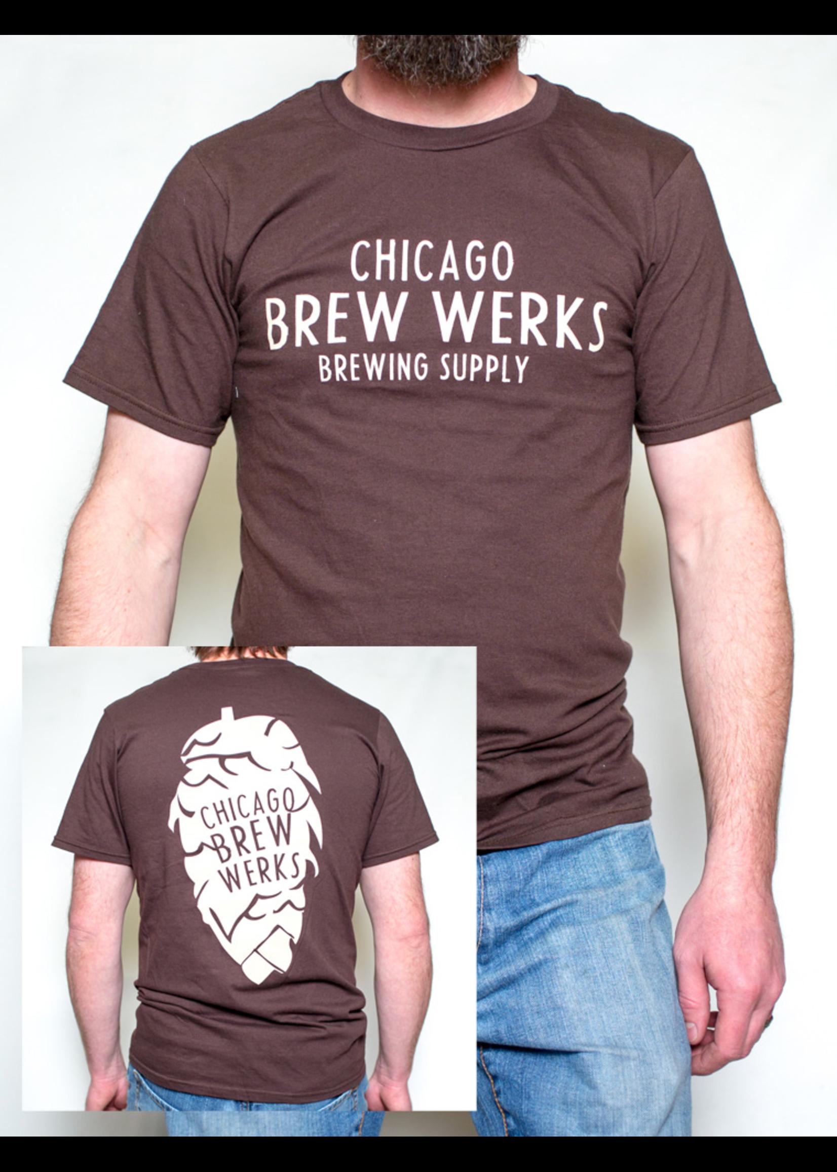 Merchandise Chicago Brew Werks T-Shirt - Brown