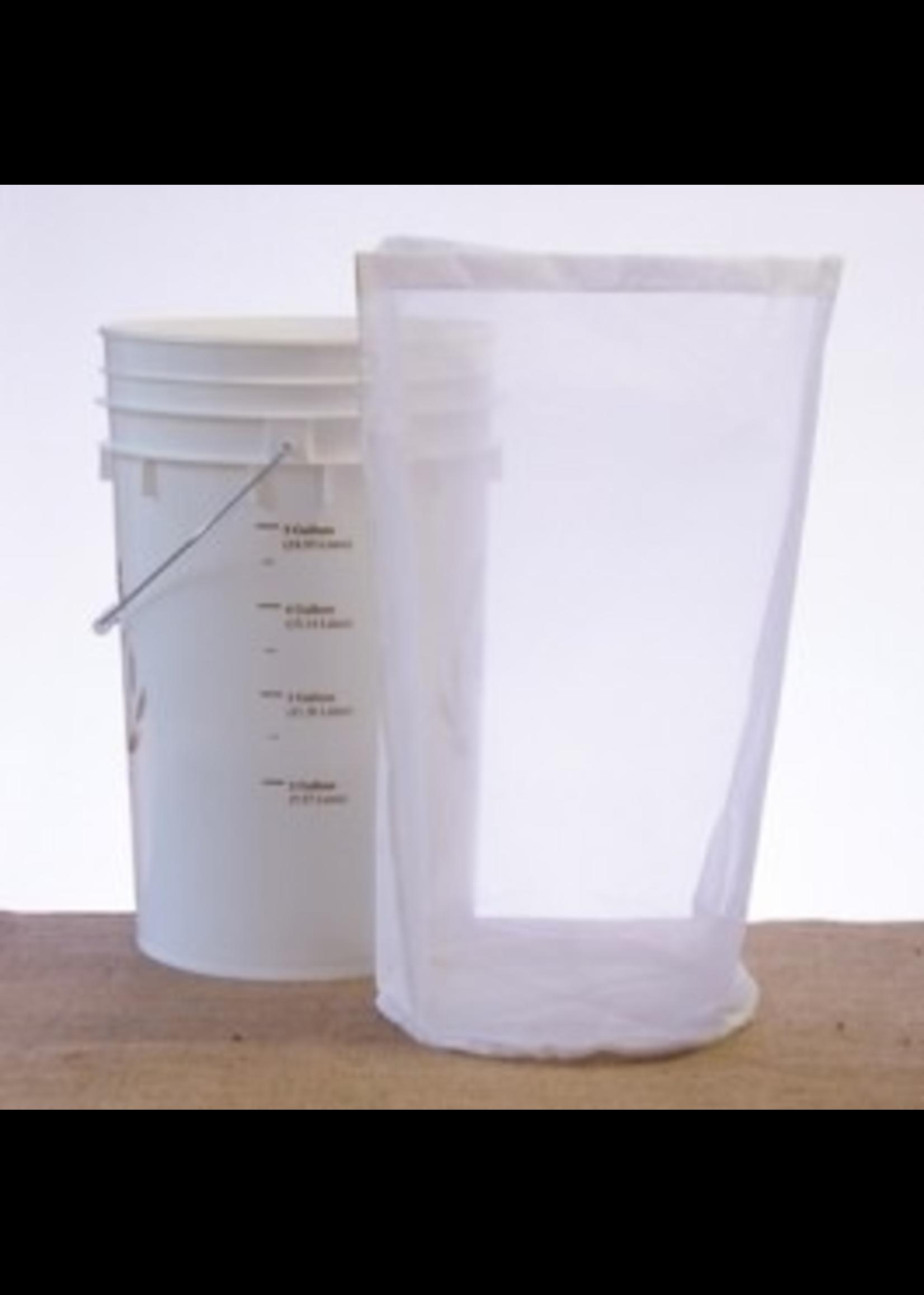 Brewing Straining Bag, Nylon - 6.5 Gallon Bucket Sparging Bag