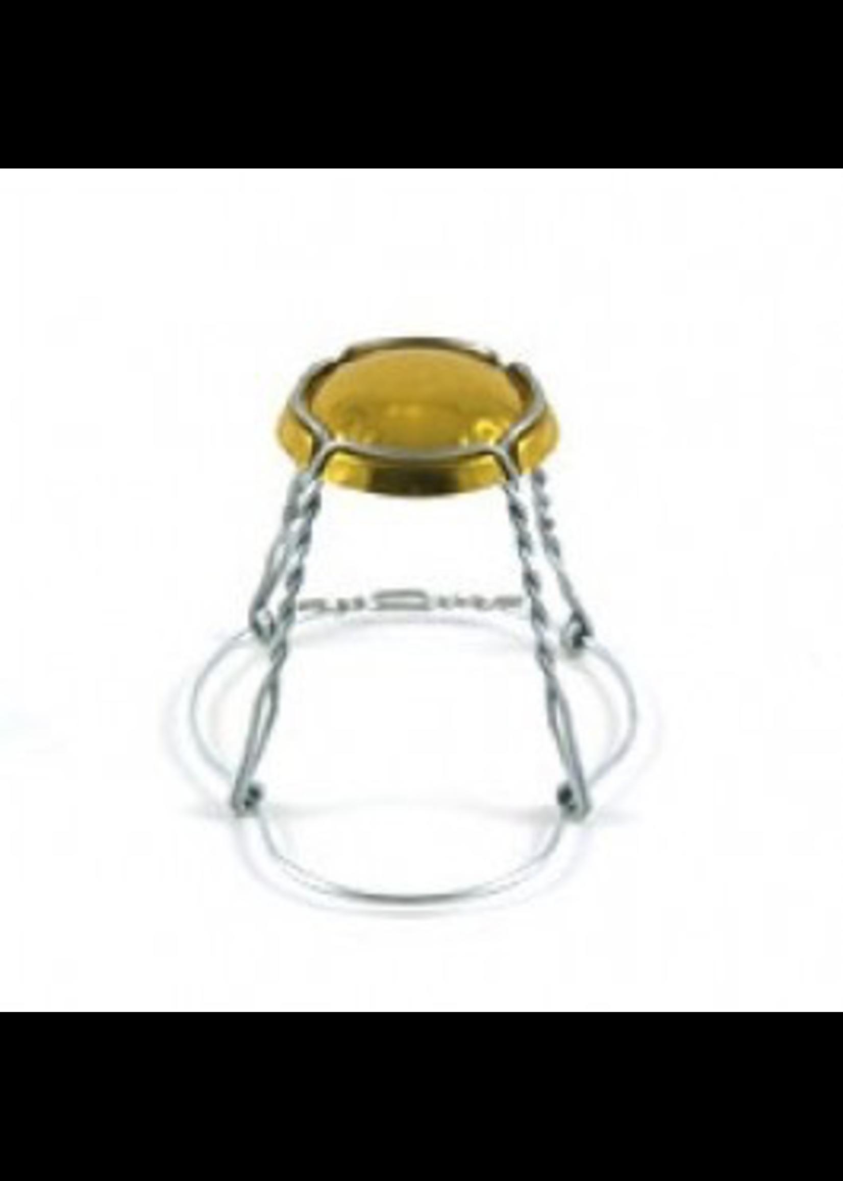 Racking/Bottling Wires, Hooded - Belgian Gold Cap (60/bag)