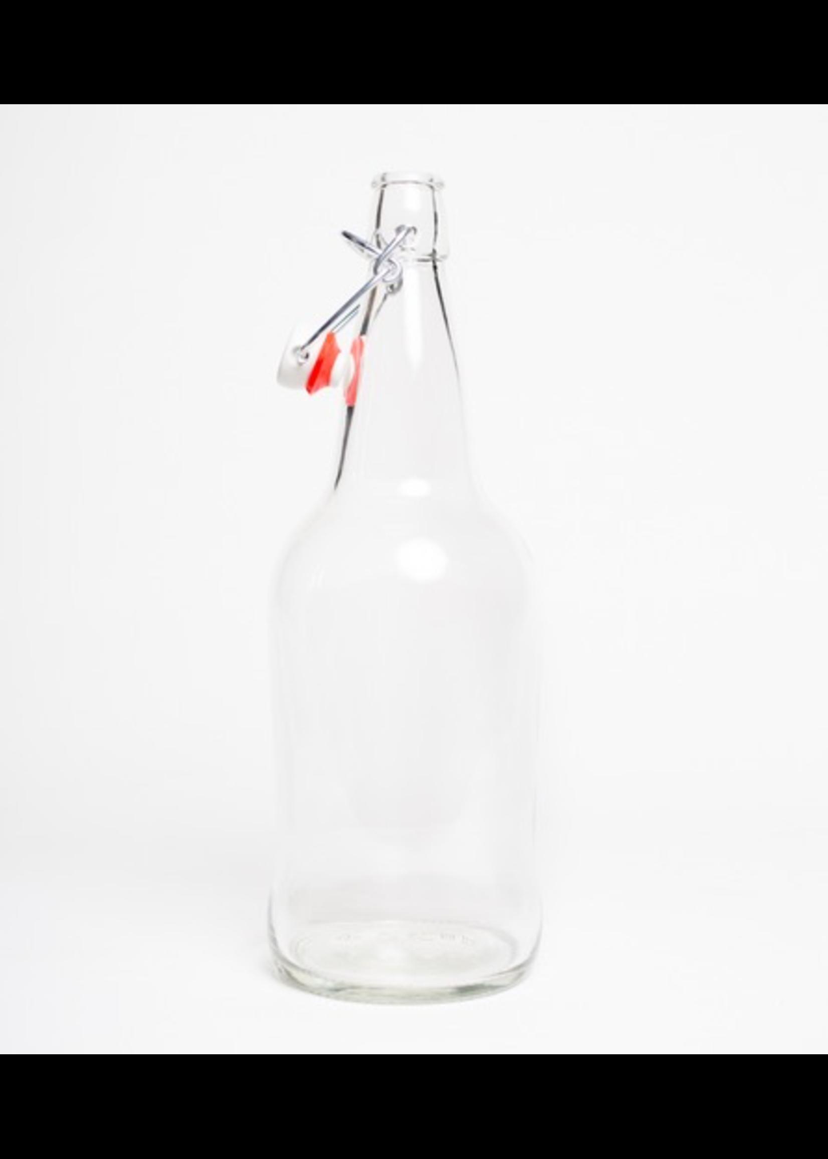Racking/Bottling EZ Cap Bottle - 1 L Flip Top - Clear (Each)