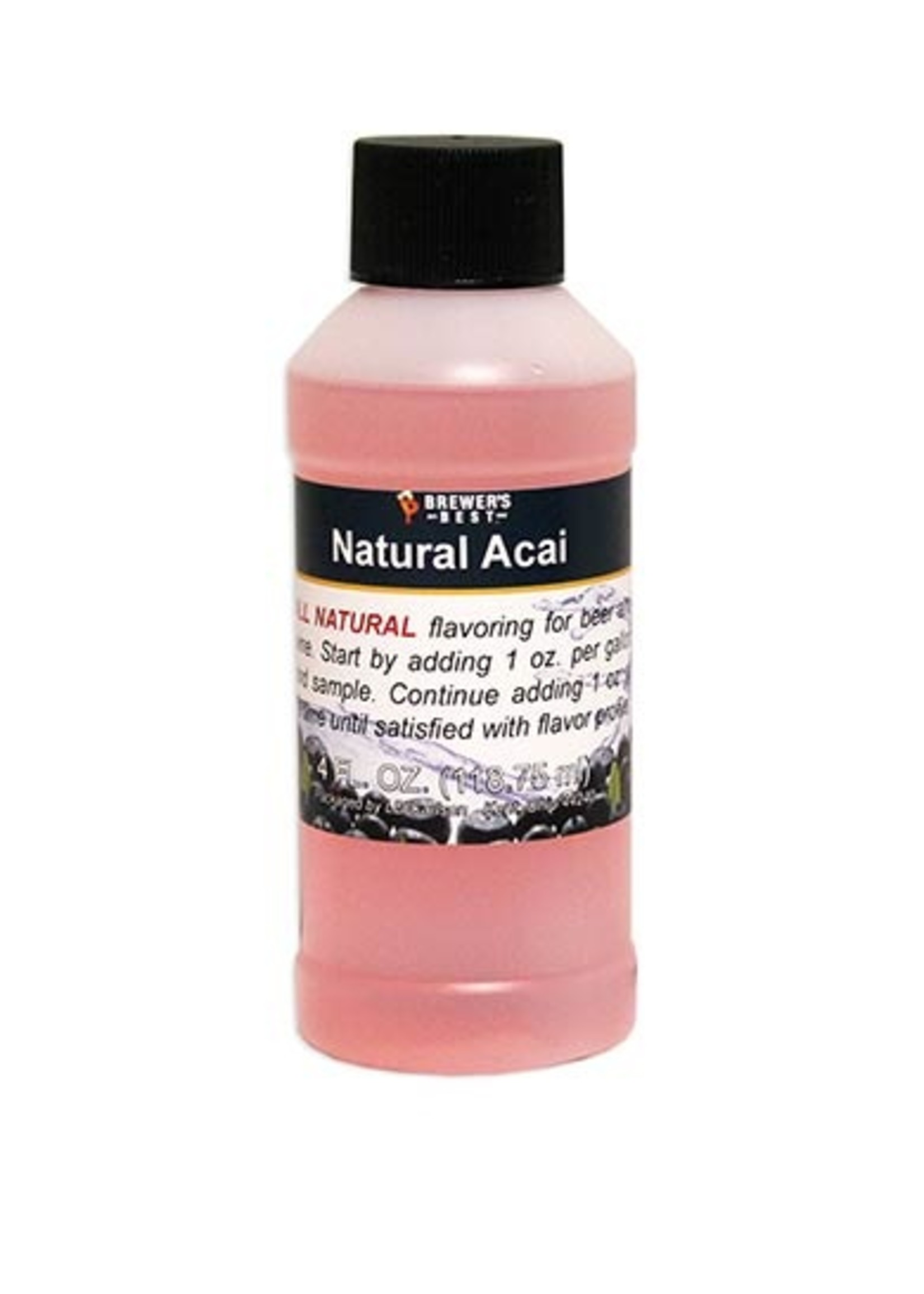 Extracts/Adjuncts Flavoring, Natural - Acai - 4 oz