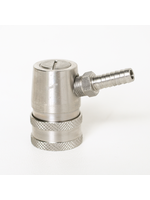 Kegging Disconnect, Ball Lock - Liquid - 1/4 Barb, Stainless Steel