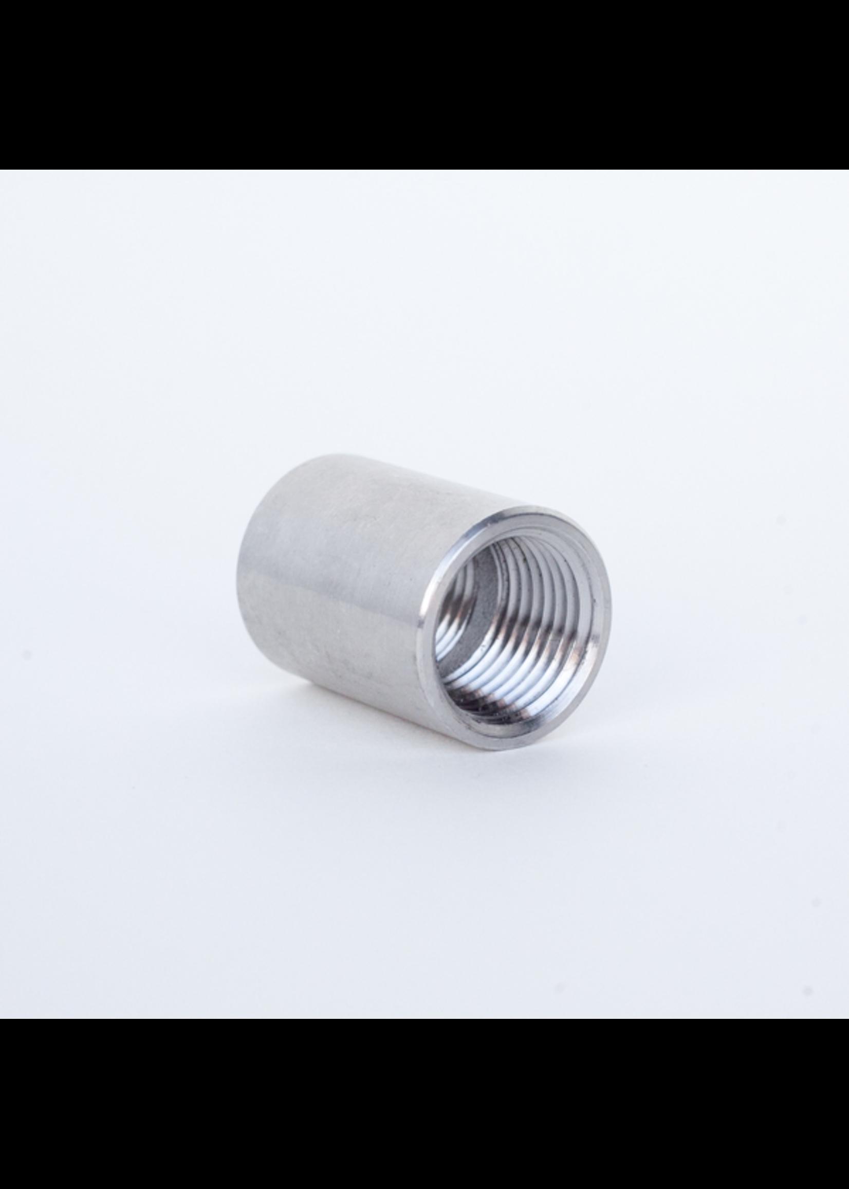 """Kegging Threaded Coupler - 1/2"""" NPT - Stainless Steel - #D07"""