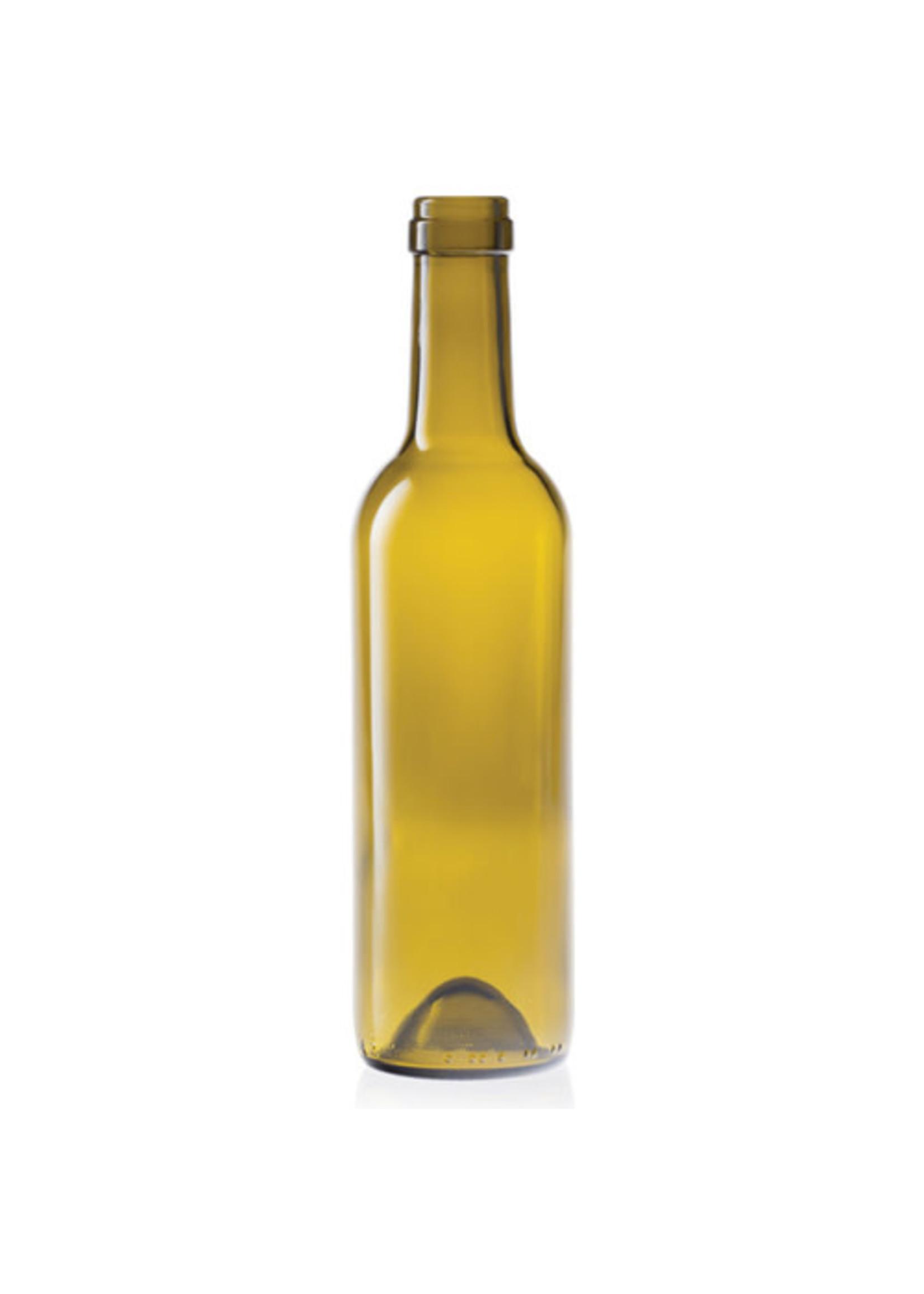 Racking/Bottling Bottles, Wine - 375 ml Semi-Bordeaux Mid-Punt - Antique Green (12/case)