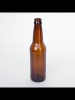 Racking/Bottling Bottles, Beer - 12 oz Longneck - Amber (24/case)