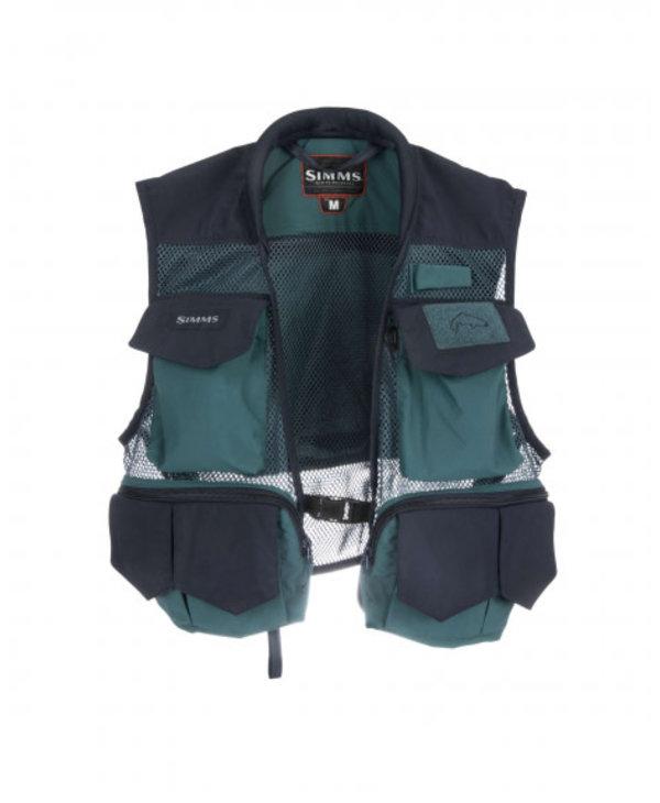 Simms Tributary Fishing Vest-Deep Sea Run Green