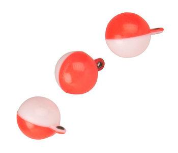 3/4 inch Half N Half Red/White 3 Pack