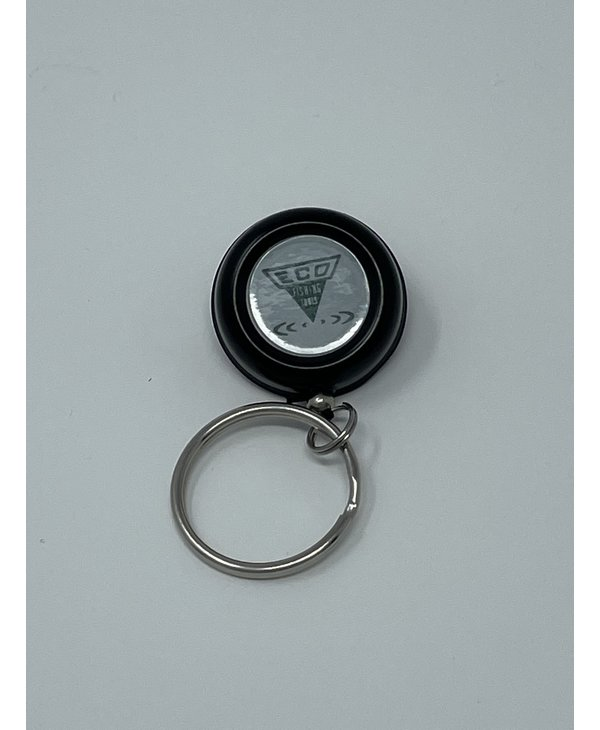 "Pin-On-Reel, Black, Nylon Cord, ""O"" Ring"
