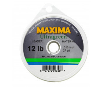 Wheel 12Lb 27 Yds Maxima MLG-12 Ultragreen Leader