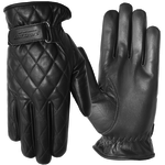 Apparel GLOVE, Cruise Women's Pleated Leather Black